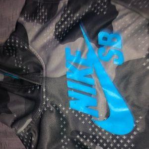 Boys Nike Blue/Black Hoodie